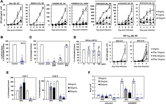 IFN-ε protects primary macrophages from HIV infection. (A) IFN-ε inhibit...