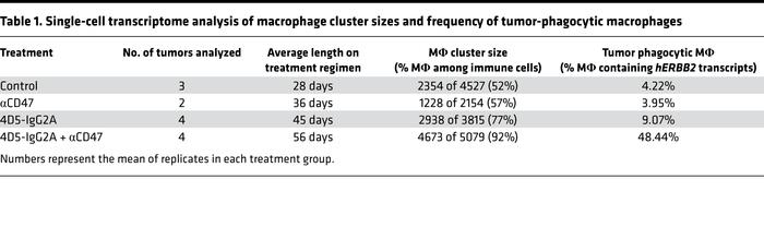 Single-cell transcriptome analysis of macrophage cluster sizes and frequ...