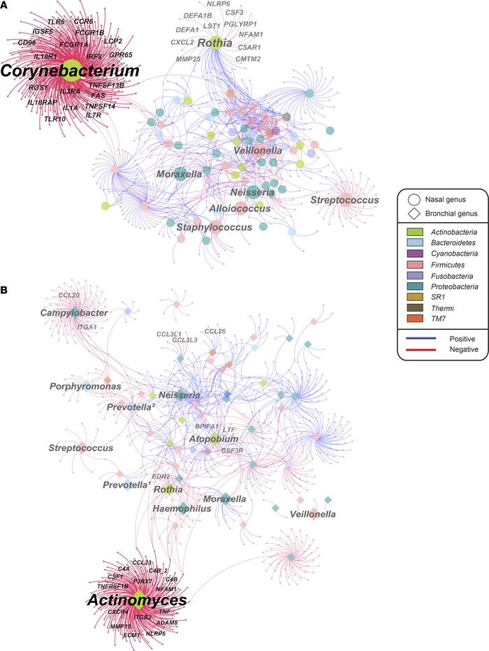 Associations between transcriptome and microbiome in the nasal (step 3 i...