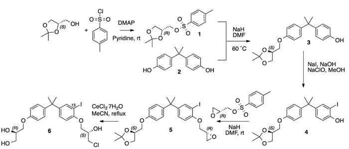 Five-step synthetic route to cold 15-iodoEPI-002 (I-EPI-002) starting fr...