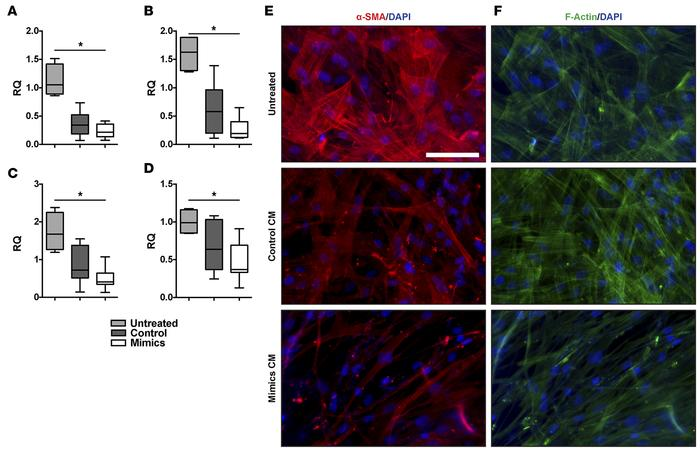 Epithelial suppression of fibroblasts is augmented by miR-323a-3p. Condi...